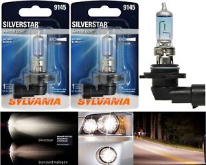 Sylvania Silverstar H10 9145 45w Two Bulbs Fog Light Replace Legal Dot Lamp