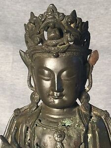 Chinese Bronze Statue Of Buddha