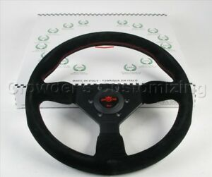 Personal Steering Wheel Grinta 330mm Black Suede Red Stitching 6430 33 2094