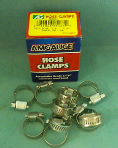 Stainless Steel Band Hose Clamp 3 8 7 8 Amgauge 6 Mini Clamps 10 Pieces