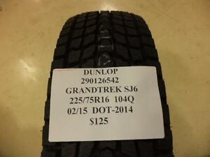 4 Dunlop Grandtrek Sj6 225 75 16 104q Brand New Set Of Tires 290126542