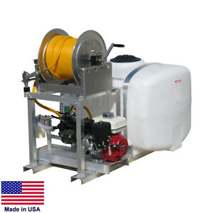 Sprayer Commercial Skid Mounted 100 Gallon Tank 5 5 Hp Honda 150 Ft Hose