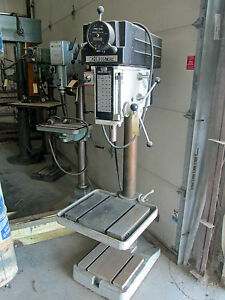 20 Msc Industrial Drill Press Model 508vs 20 With T slotted Table
