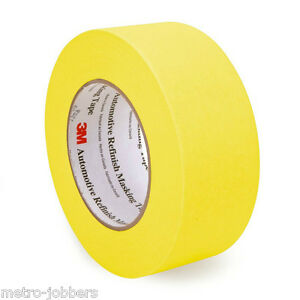 3m 6656 06656 2 Yellow Automotive Refinish Masking Tape 48 Mm X 55 M 6 Rolls