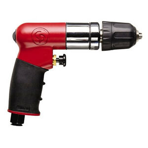 Chicago Pneumatic 1 4 Reversible Mini Air Drill With Keyless Chuck Cp7300rqc