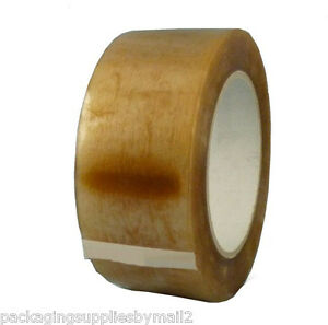 144 Rolls Carton Sealing Clear Packing 1 75 Mil Natural Rubber Tape 3 x110yds