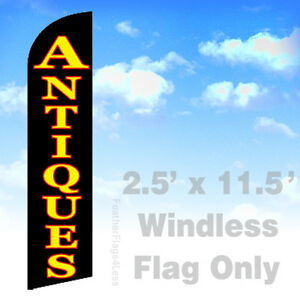 Antiques Windless Swooper Flag 2 5x11 5 Feather Banner Sign Kf