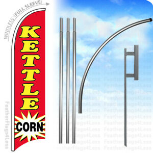 Kettle Corn Windless Swooper Flag 15 Kit Feather Banner Sign Rb
