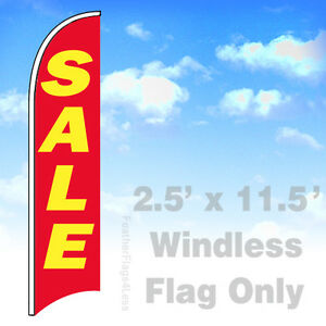 Sale Windless Swooper Flag Feather Banner Sign 2 5x11 5 Rb
