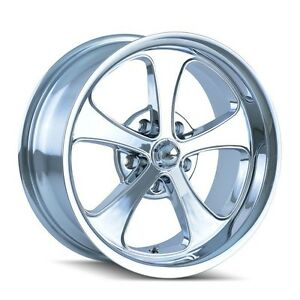 Cpp Ridler Style 645 Wheels 17x7 Front 20x10 Rear 0 Offset 5x4 5 Chrome