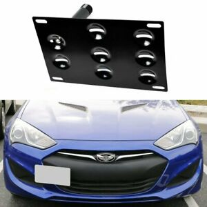 Front Bumper Tow Hook License Plate Mounting Bracket Holder For Genesis Coupe