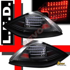 2003 2004 2005 Honda Accord 2dr Coupe 2 Door Black Led Tail Lights Rh