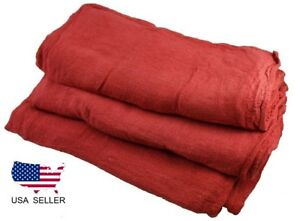 1000 New Industrial Shop Rags Cleaning Towels Red Large 14x14 Ga Towel Brand