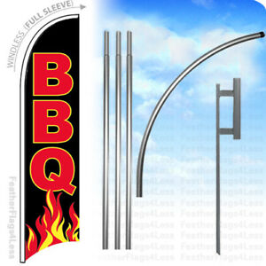 Bbq Windless Swooper Feather Flag Kit Banner Sign Kb