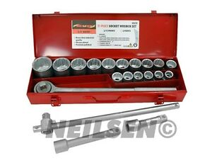 21pc Socket Tool Ratchet Extension Set 3 4 Inch Drive Large Jumbo Sizes Garage