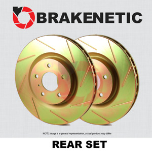 Rear Set Brakenetic Sport Slotted Brake Rotors Cobra Bns61046 Ss