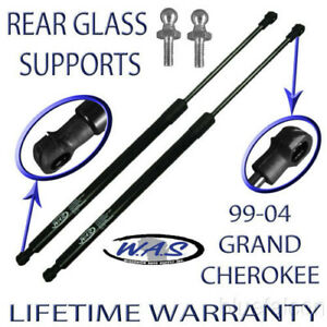 2 New Rear Window On Hatch Glass Lift Supports For 1999 2004 Jeep Grand Cherokee