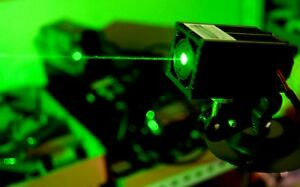 532nm 100mw Green Laser Module dot Effect With Power Adapter With Bracket