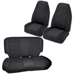 Smittybilt 471701 Black Black Front And Rear Seat Covers For Jeep Wrangler Jku