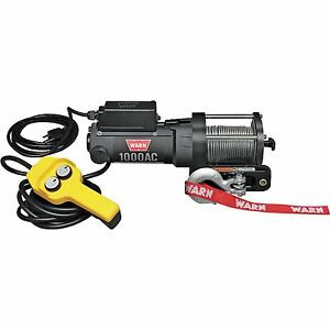 Warn 80010 1000ac Portable Utility Winch 0 8 Hp With 43ft Wire Rope