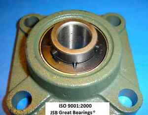 qty 4 1 1 4 Ucf206 20 Quality Square Flanged Ucf 206 20 Pillow Block Bearing