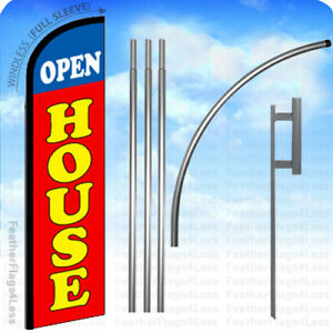 Open House Windless Swooper Flag 15 Kit Feather Banner Sign Rf