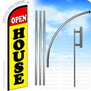 Open House Windless Swooper Flag 15 Kit Feather Banner Sign Yf