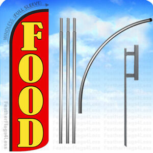 Food Windless Swooper Feather Banner Flag 15 Kit Rq