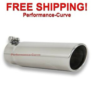 Stainless Steel Bolt On Exhaust Tip 3 Inlet 3 5 Outlet 12 Long