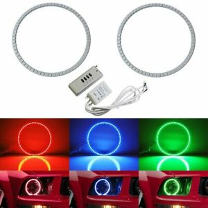 Rgb Multi color Led Angel Eyes Halo Rings For 2005 2009 Ford Mustang W Remote