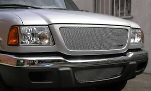 Grillcraft For1005s Silver Mx Grille Upper Insert For 01 03 Ford Ranger