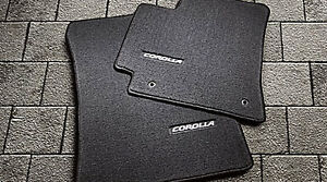 Toyota Corolla 2009 2013 Black Carpet Floor Mats Oem New