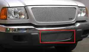 Grillcraft For1006s Silver Mx Grille Lower Insert For 01 03 Ford Ranger