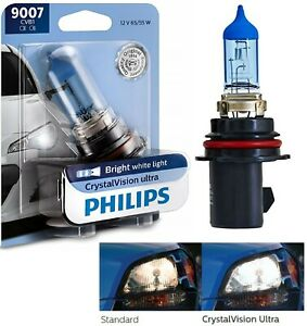 Philips Crystal Vision Ultra 9007 Hb5 65 55w One Bulb Head Light Upgrade Hi Low