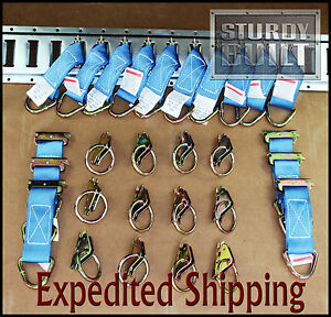 28pcs 16x Etrack Tie Off 12x E Track O Ring Fitting Truck Cargo Van Trailer