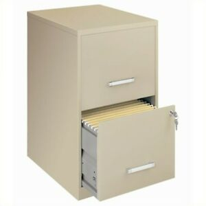 Filing Cabinet File Storage Hirsh 2 Drawer Letter Locking Drawer In Putty
