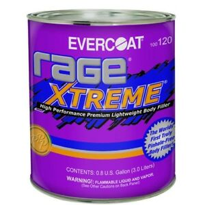0 8 Gallon Evercoat Rage Xtreme Premium Auto Body Filler 120 Lightweight
