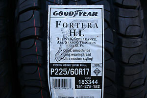 One Brand New 225 60 17 Goodyear Fortera H l Tire 98s shipping Discount