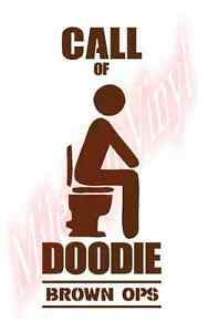 Call Of Doodie Brown Ops Toilet Funny Humor Vinyl Decal Sticker Window Glass