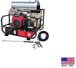 Pressure Washer Hot Water Skid Mounted 8 Gpm 3500 Psi 22 Hp Honda Gp