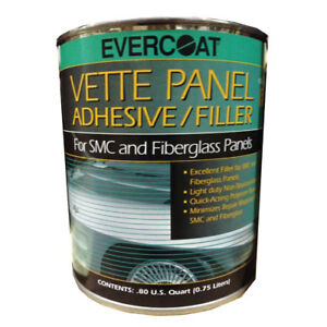 Evercoat Vette Panel Adhesive Filler With Blue Cream Hardener 1 Quart 870