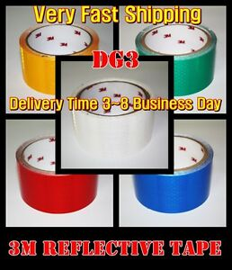L 33ft 3m tm white Reflective Tape dg3 diamond Sheet vinyl adhesive roll long