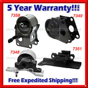 K110 Fit 05 06 Nissan Altima 3 5l Engine Trans Mount Set 4pc For Auto Trans