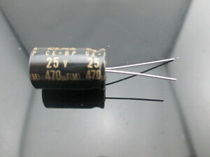 50pcs Elna Capacitors Rbd 470uf 25v 470mfd Audio Series Bi Polar Capacitors
