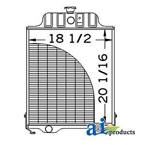 John Deere Parts Radiator At48171 480b 480a 401c 401b 401 302a 300b 302a