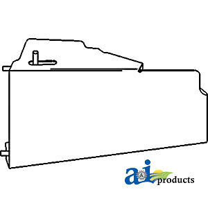 Compatible With John Deere Side Shield Lh Ar26851 3020 s n 122999 3010
