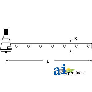 Compatible With John Deere Tie Rod Long Ar63591 4455 w Narrow Row Wide Front A
