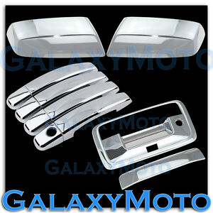 15 18 Chevy Silverado Chrome Mirror 4 Door Handle Tailgate Camera Hole Cover