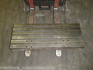 45 X 18 X 5 5 Steel T slotted Table Cast Iron Layout Fixture Plate Weld