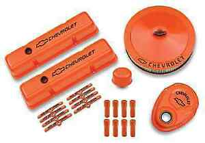 Proform 141 780 Orange Deluxe Dress up Kit For Chevy Small Block Engines